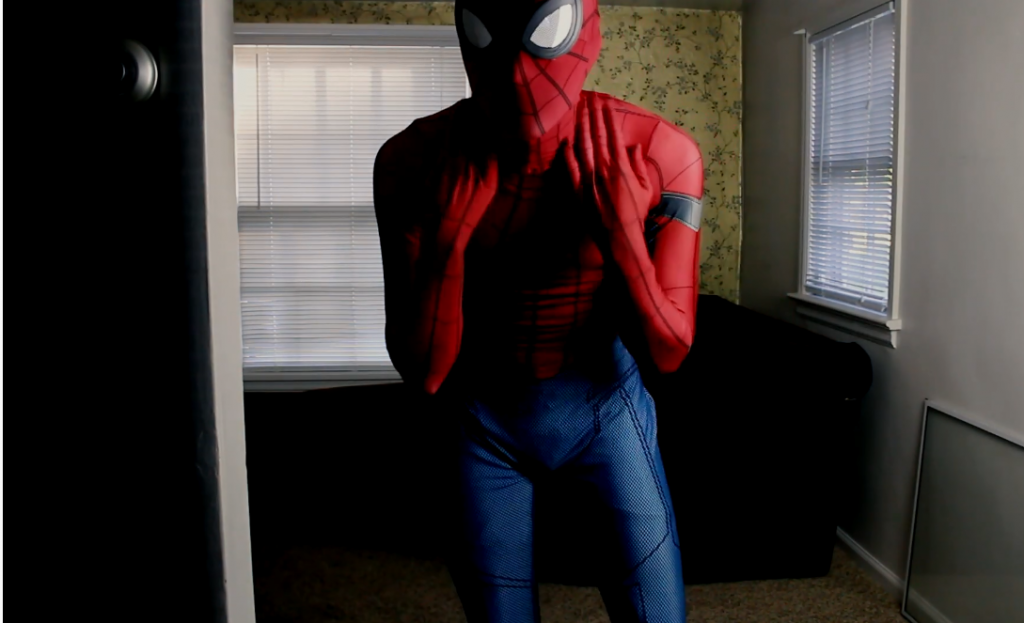 spider-man cosplay costume fits your skin tight
